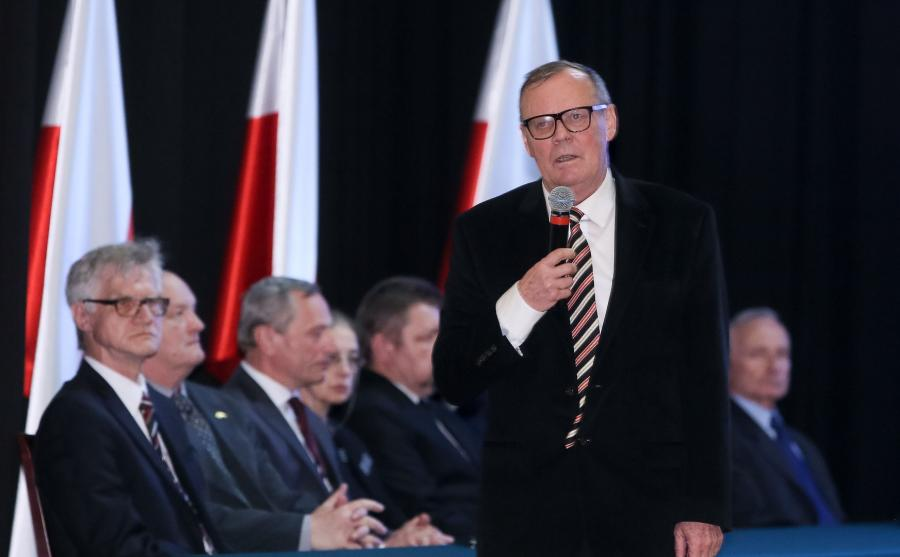 Przewodniczący powołanej przez MON podkomisji ds. ponownego zbadania katastrofy smoleńskiej dr Wacław Berczyński podczas posiedzenia komisji