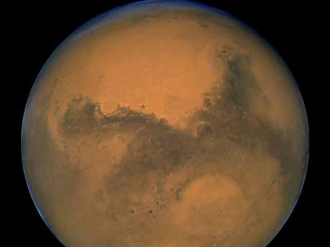 Fotografia Marsa wykonana za pośrednictwem teleskopu Hubble'a