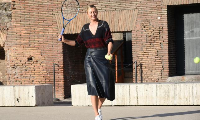 Niezwykła sesja Marii Szarapowej. Piękna Rosjanka pozowała w Koloseum [FOTO]