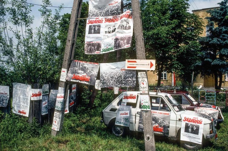 Wies na Mazowszu - lokal wyborczy / Fot. Chris Niedenthal