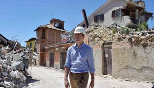 Justin Trudeau w Amatrice