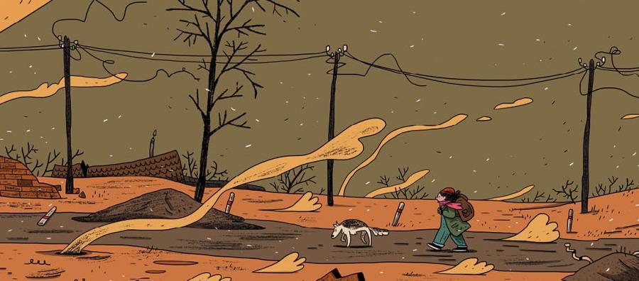 """Bajka na końcu świata, tom 1. Ostatni ogród"", scenariusz i rysunki: Marcin Podolec, Kultura Gniewu 2017"