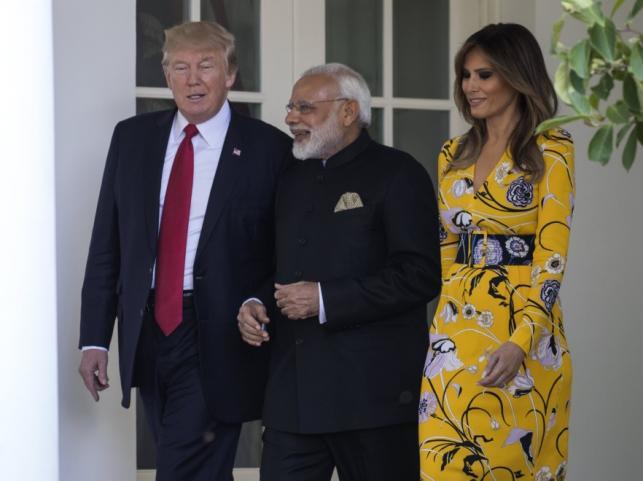 Donald Trump, Narendra Modi i Melania Trump