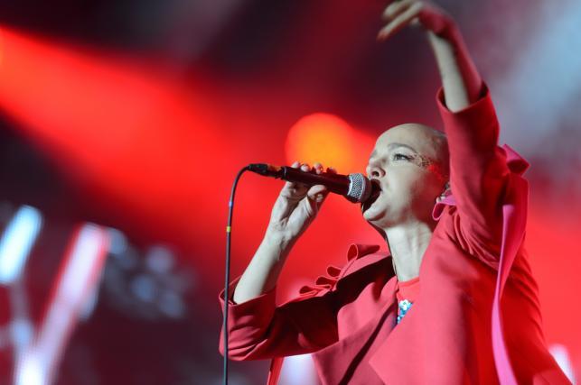 Monika Brodka na koncercie Męskie Granie. Poznań, 9 lipca 2017.