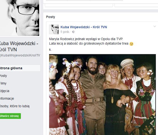 Screen z profilu Kuby Wojewódzkiego
