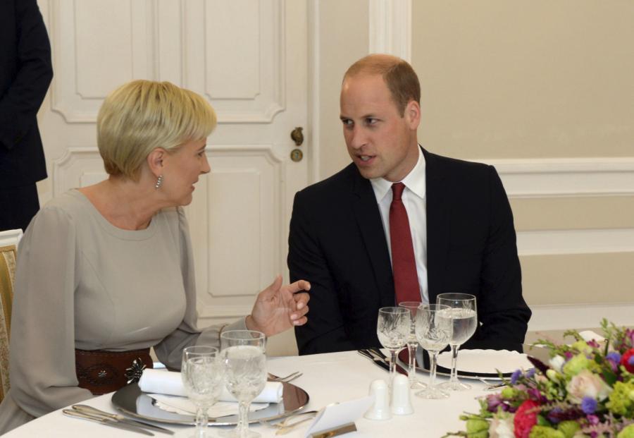Śniadanie par książęcej i prezydenckiej