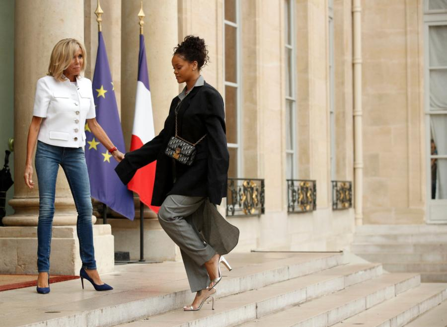 Brigitte Macron i Rihanna
