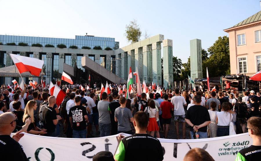 Narodowcy uczcili rocznicę wybuchu powstania