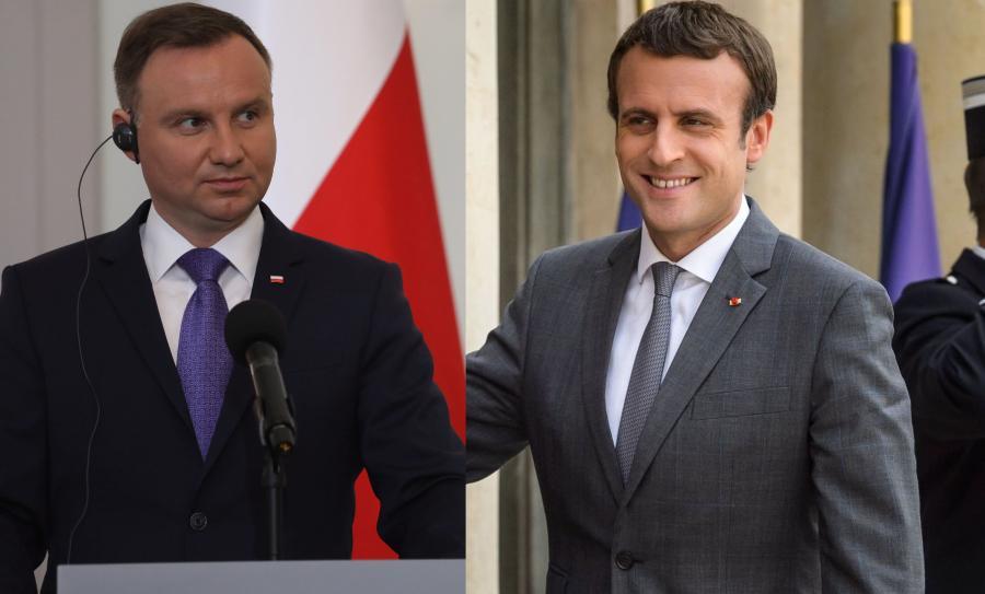 Andrzej Duda Emmanuel Macron (fot. Agencja Gazeta/PAP/EPA)