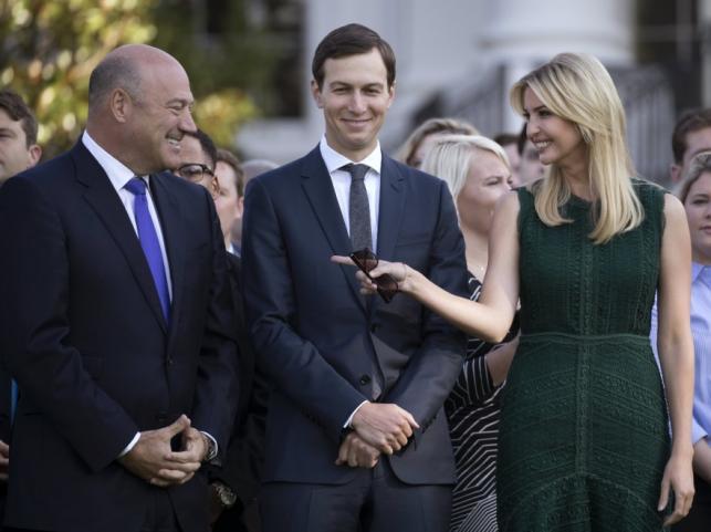 Gary Cohn, Jared Kushner i Ivanka Trump