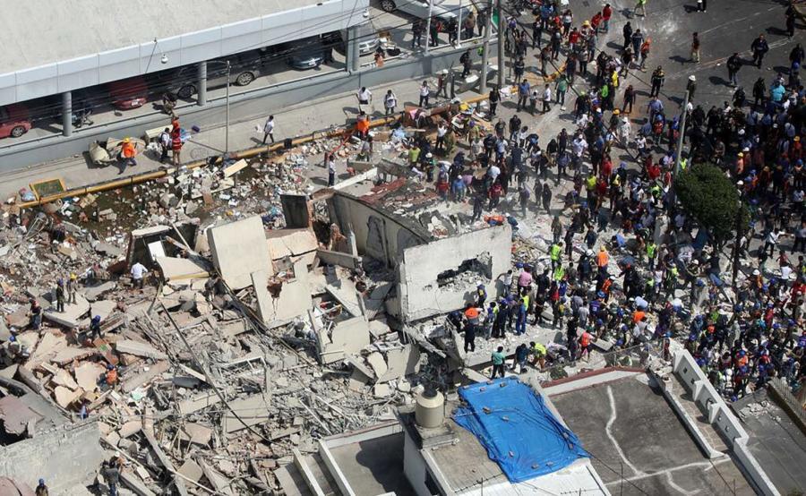 Skutki trzęsienia ziemi w Meksyku