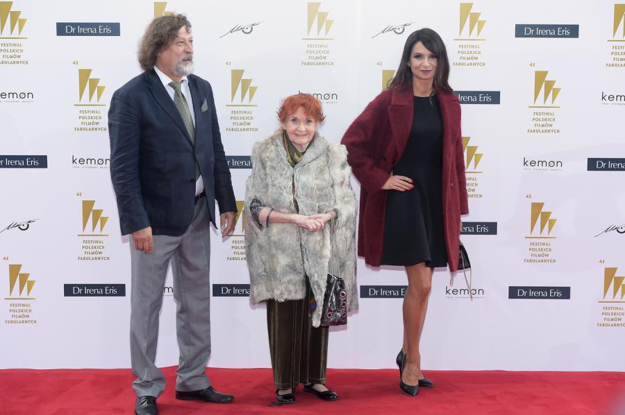 Marta Kaczyńska i Barbara Krafftówna oraz Jan Maria Tomaszewski