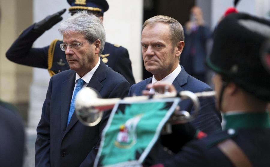 Paolo Gentiloni i Donald Tusk