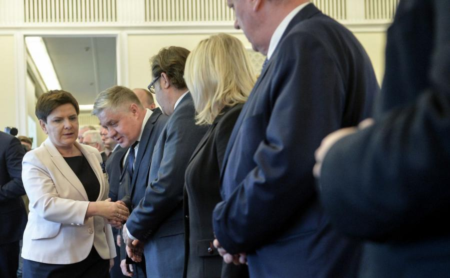 Posiedzenie rządu - premier Beata Szydło i ministrowie