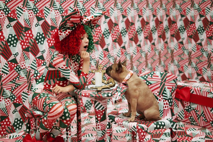 Sia i jej świąteczny pies