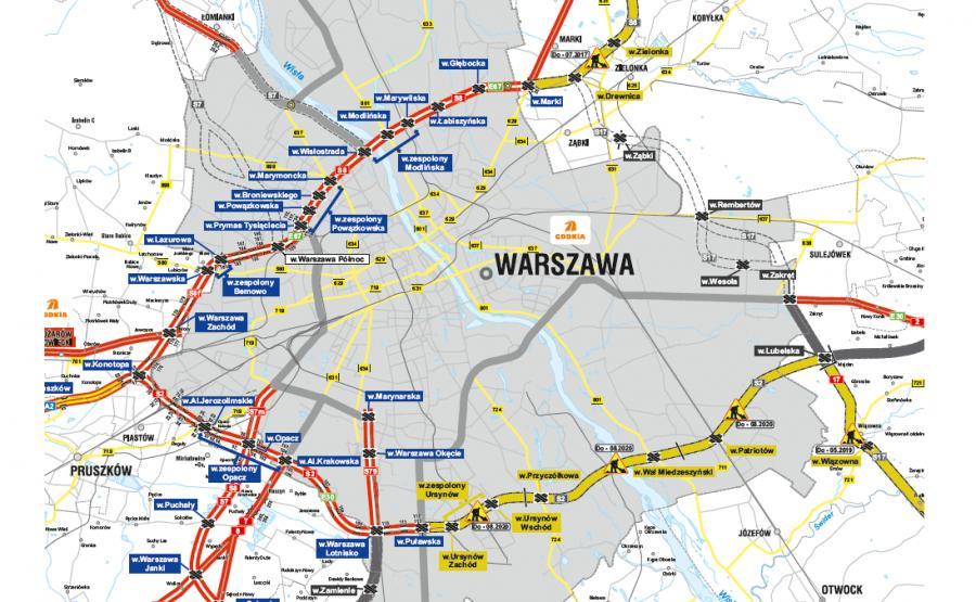 Budowa drogi ekspresowej S17 na odcinku węzeł Zakręt - węzeł Lubelska (bez węzła) stanowić będzie element Wschodniej Obwodnicy Warszawy