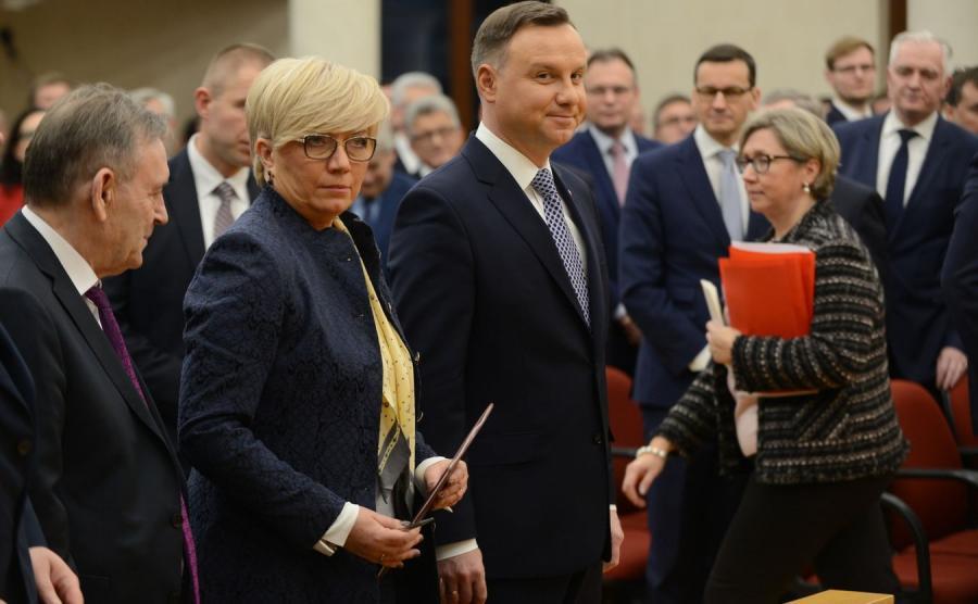 Prezes TK Julia Przyłębska i prezydent Andrzej Duda