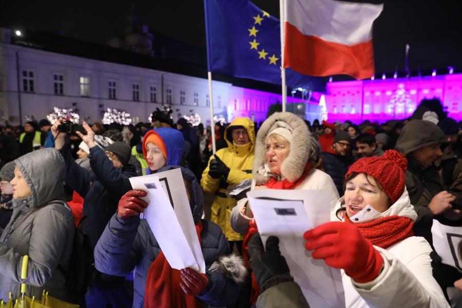 Protest przeciwko reformie