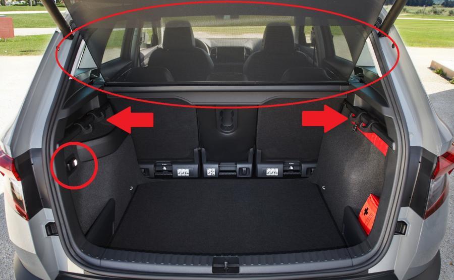 Skoda Karoq to samochód nastawiony na rodzinne użytkowanie. Bagażnik jest pojemny (od 479 do 1810 l) i ustawny. Pakowanie ułatwi niski próg załadunku oraz niemal płaska podłoga. Automatycznie rozwijana roleta (standard z VarioFlex) chroni przed przewianiem. Haczyki ujarzmią ładunek. Latarka diodowa wyjmowana z kufra dzięki magnesowi po przymocowaniu do błotnika zapewni oświetlenie przy wymianie koła. Parasol ukryto pod fotelem pasażera