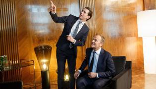 Donald Tusk i Sebastian Kurtz