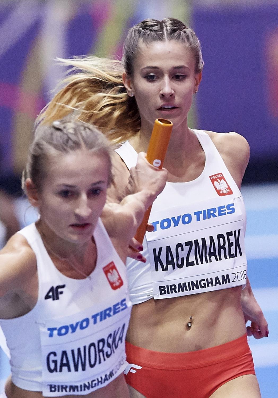 Sztafeta kobiet 4x400 m z rekordem Polski 3.26,09 zdobyła w Birmingham srebrny medal