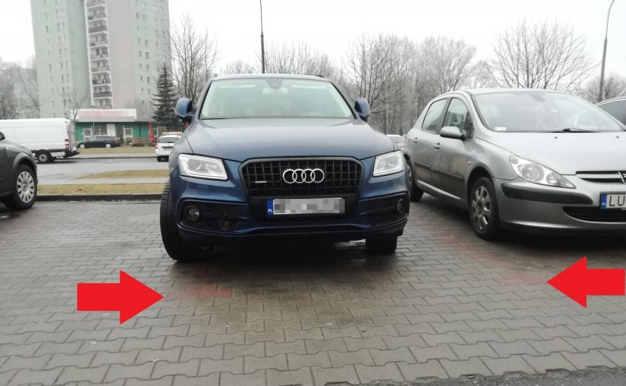 SUV Audi to stan umysłu? Parkowanie na dwóch miejscach - zdjęcie nadesłane przez czytelnika