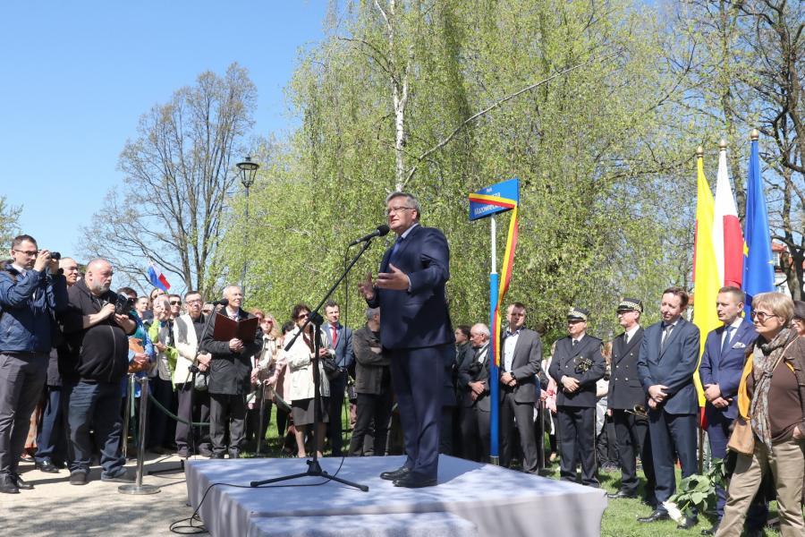 Otwarcie parku Tadeusza Mazowieckiego
