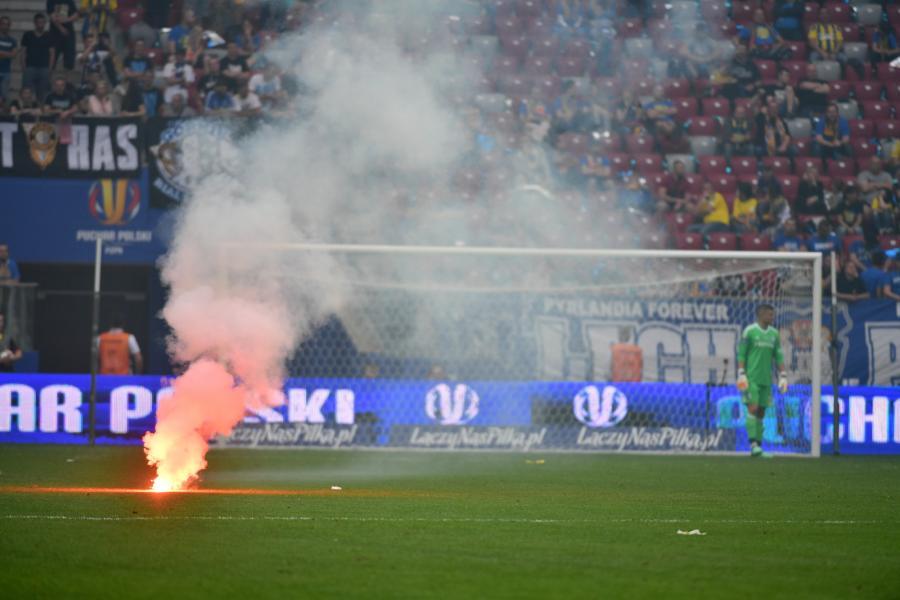 Race podczas finałowego meczu Pucharu Polski Arka Gdynia - Legia Warszawa na PGE Narodowym
