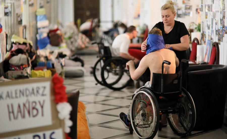 Niepełnosprawni w Sejmie