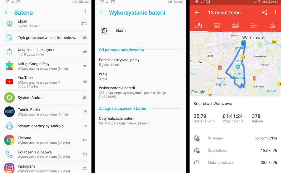 Asus Zenfone 5 GPS, czas pracy na baterii