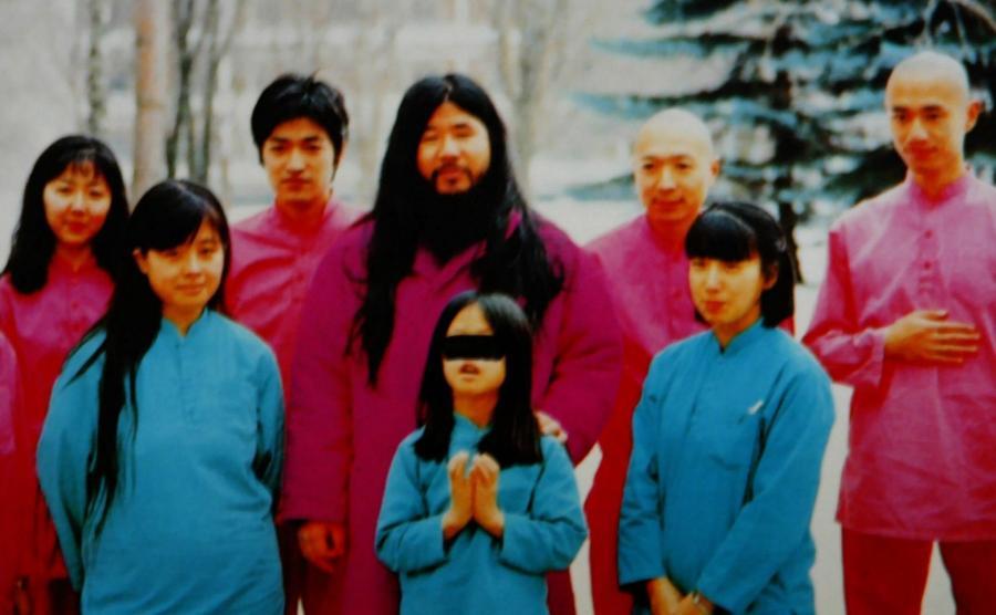 Shoko Asahara i członkowie sekty Najwyższa Prawda