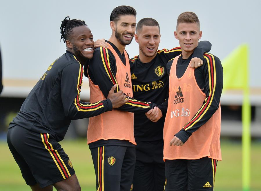 Michy Batshuayi, Yannick Carrasco, Eden Hazard i Thorgan Hazard