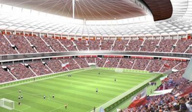 Pierwszy mecz na budowanym właśnie Stadionie Narodowym rozegrają jego projektanci i budowniczy - drużyny pracowni JSK i firmy Pol-Aqua