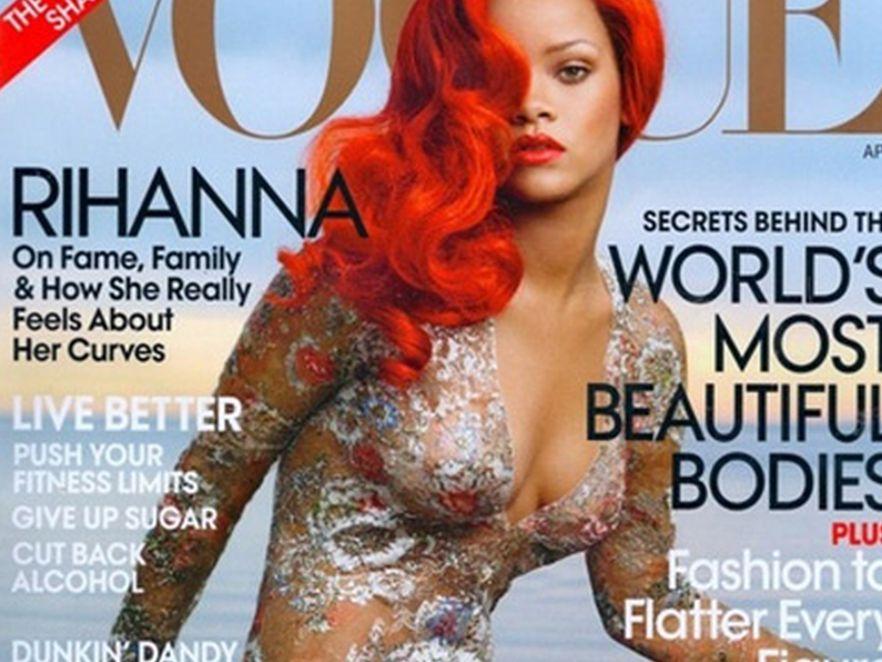 """Ponętna Rihanna w sesji dla """"Vogue"""""""