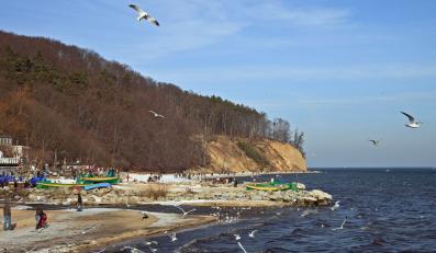 Brzeg morza w Gdyni