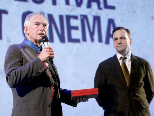 Peter Weir i Radosław Sikorski