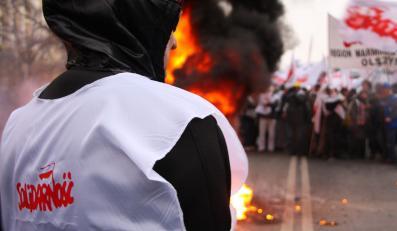 Demonstracja związkowców