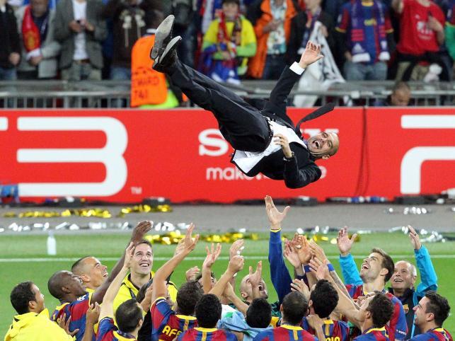 Trener Barcelony w górze
