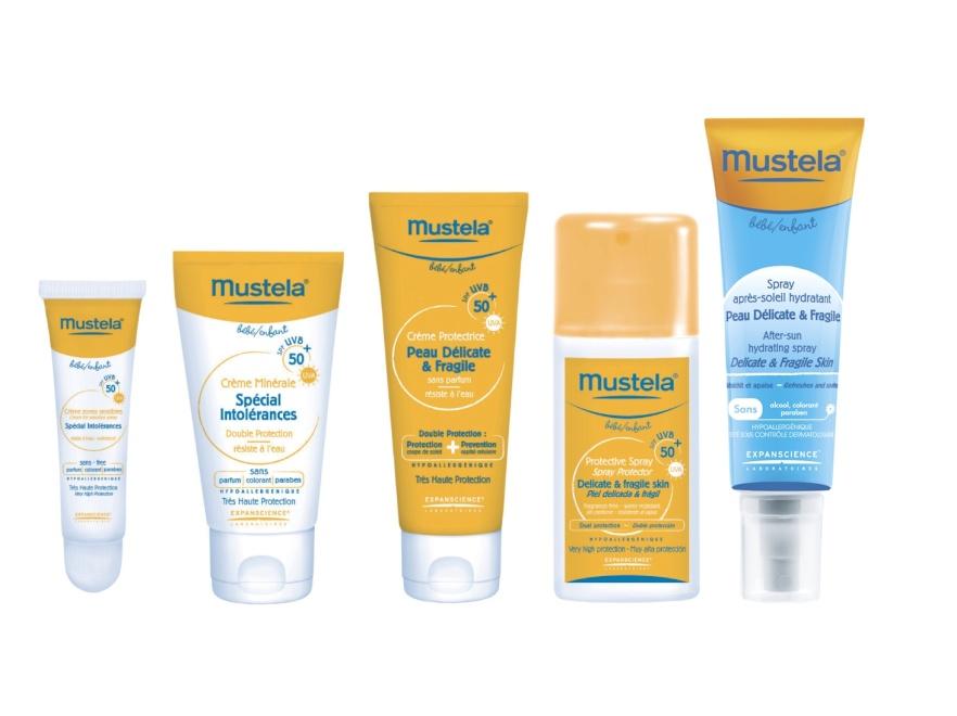 Odpowiednie kosmetyki zabezpieczają malucha przed szkodliwym działaniem promieni słonecznych to podstawa. Na zdjęciu linia kosmetyków Mustela.