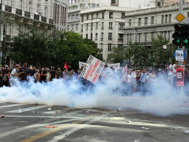 Zamieszki w stolicy Grecji