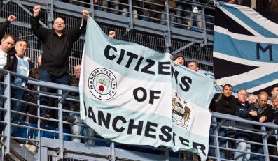 Kibice Manchester City w Poznaniu