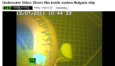 """Podwodne zdjęcia z wraku """"Bułgaria"""""""