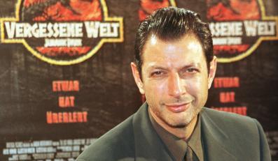 """Jeff Goldblum promuje """"Zaginiony świat: Jurassic Park"""" w 1997 roku"""