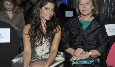 Weronika Rosati z matką