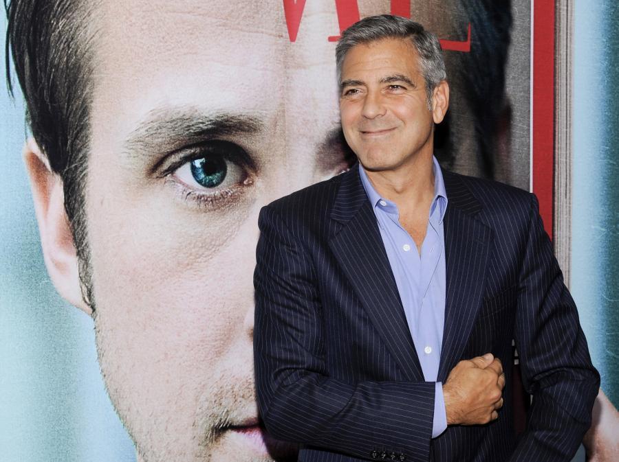 George Clooney na amerykańskiej premierze swego filmu