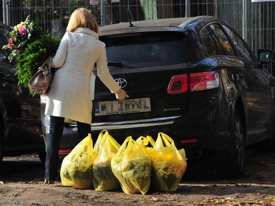 Małgorzata Tusk na zakupach przed Wszystkich Świętych