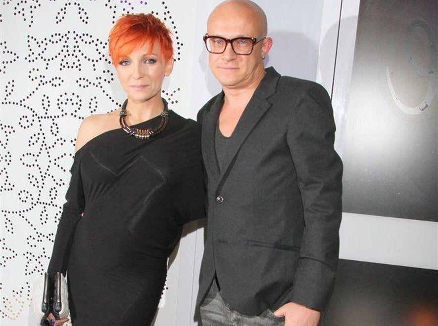 Anna Wyszkoni z partnerem Maciejem Durczakiem