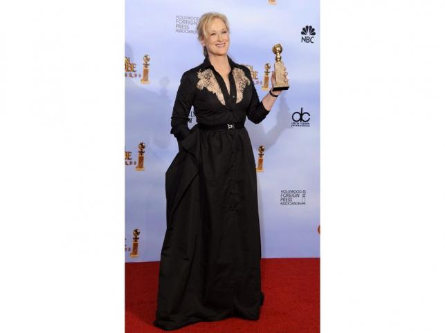 Meryl Streep często miewa modowe wpadki. Na rozdaniu Złotych Globów ...
