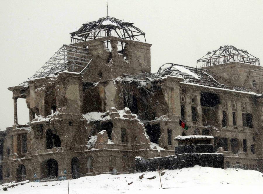 Pałac Darul Aman mocno ucierpiał w czasie wojny