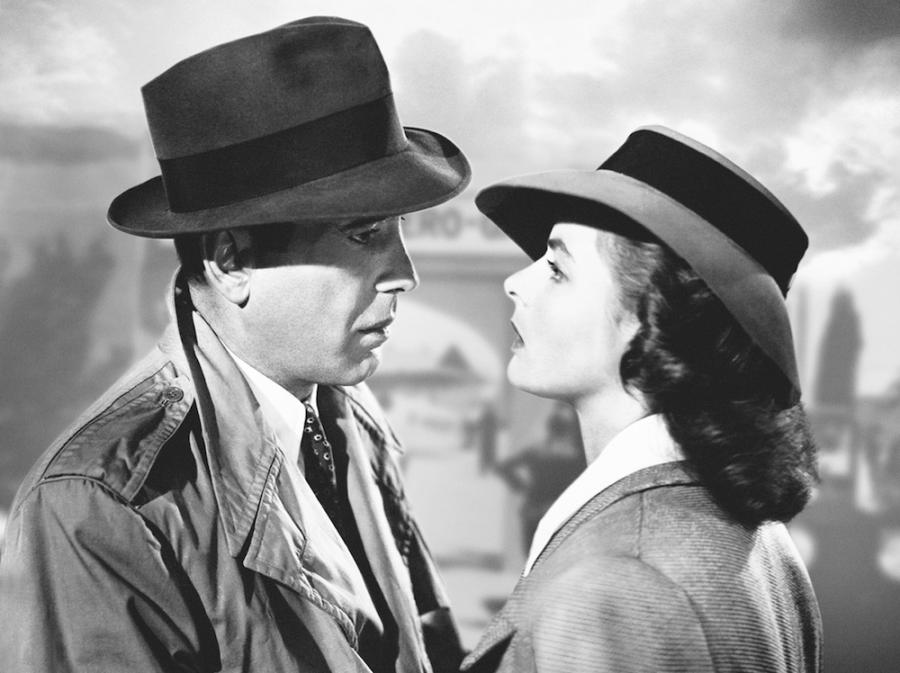 Humphrey Bogart i Ingrid Bergman w filmie \